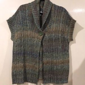 Green heathered sweater vest